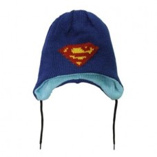 DC Comics Light Blue Reversible Heroes Superman Beanie Hat
