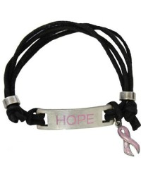 "Breast Cancer Awareness ""Hope"" Adjustable Bracelet"